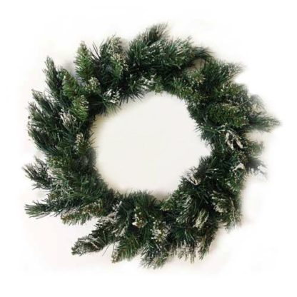 Corona pino verde ghiacciata cm 45