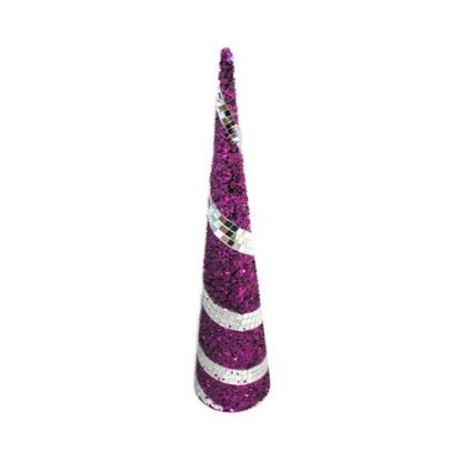 Alberino di Natale stilizzato viola cm 45