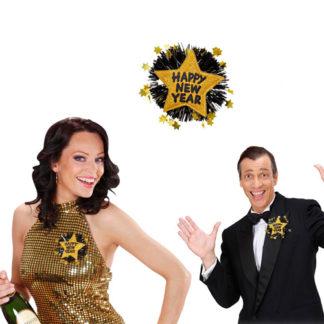Spilla Happy New Year oro