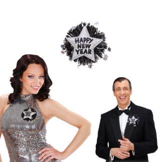 Spilla Happy New Year argento