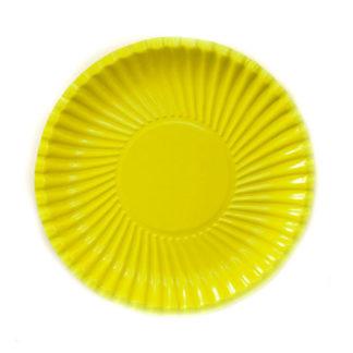 Piatti in carta giallo 10 pezzi