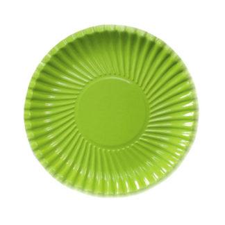 Piatti in carta verde lime 10 pezzi