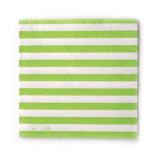 Tovaglioli a righe verde lime 20 pezzi
