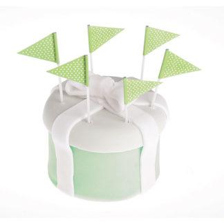Stecchini colore verde lime 25 pezzi