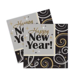 Tovaglioli Happy New Year conf 16 pezzi