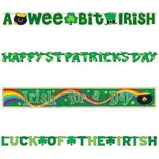 Banner San Patrick set 4 pezzi