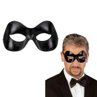 Maschera Mistero nero lucido