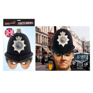 Maschera British poliziotto Inglese in cartoncino