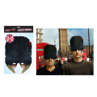 Maschera British Guardia Inglese in cartoncino