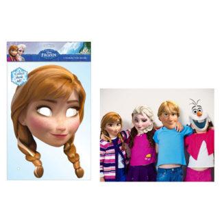 Maschera Anna Frozen in cartoncino