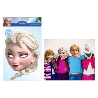Maschera Elsa Frozen in cartoncino