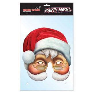 Maschera Babbo Natale in cartoncino