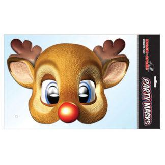 Maschera Renna di Babbo Natale in cartoncino