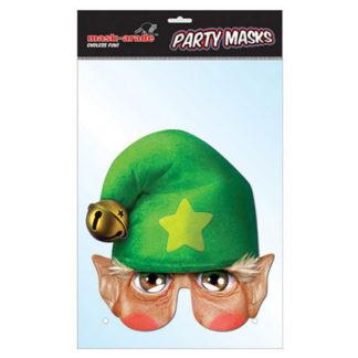 Maschera Elfo Natalizio in cartoncino