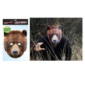 Maschera animale Orso Bruno in cartoncino