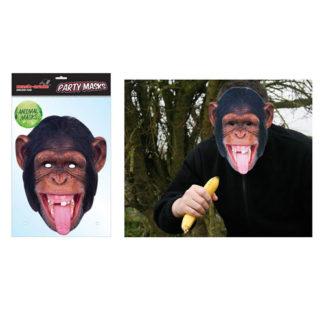Maschera animale Scimpanzé in cartoncino