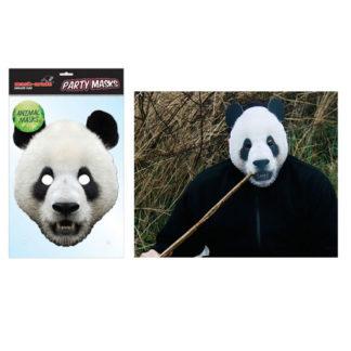 Maschera animale Panda in cartoncino
