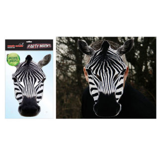 Maschera animale zebra in cartoncino
