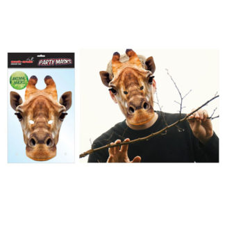 Maschera animale Giraffa in cartoncino