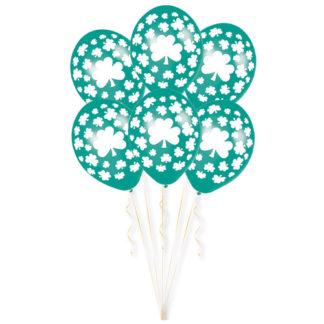 Palloncini trifoglio San Patrick conf. 6 pezzi