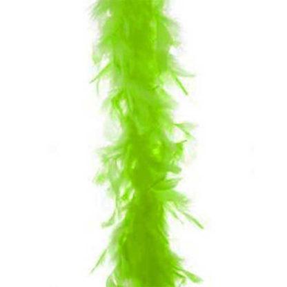 Boa piume verde neon