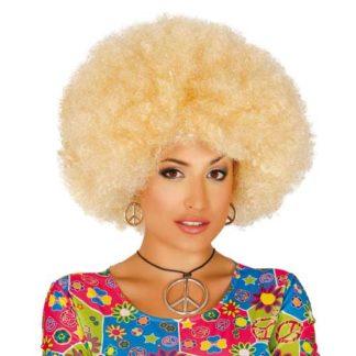 Parrucca Afro Bionda Maxi