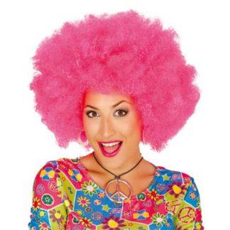 Parrucca Afro Maxi Rosa