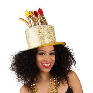 Cappello Torta Compleanno Oro