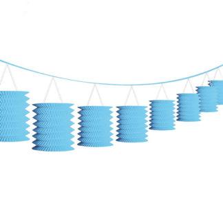 Ghirlanda azzurra con lanterne mt 3,65