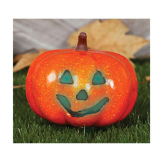 Zucca di halloween con luce cm 16