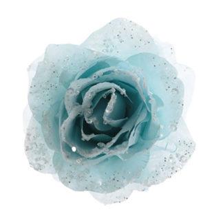 Rosa glitterata Azzurra con clip