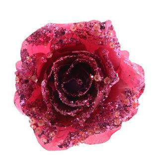 Rosa glitterata Lampone con clip