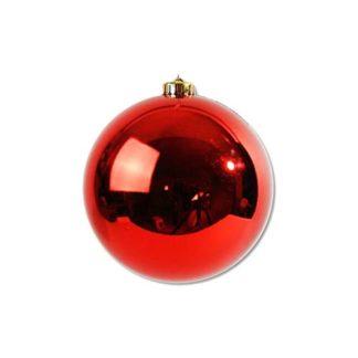 Palla di Natale mm 140 rossa