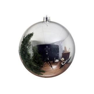 Palla di Natale maxi argento mm 200
