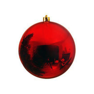 Palla di Natale mm 200 rossa