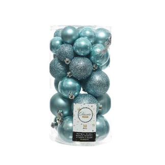 Box 30 Palline di Natale Artic Blue