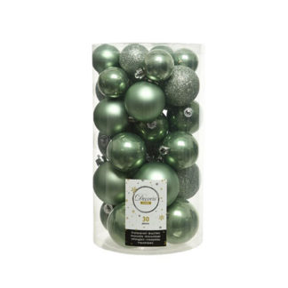 Box 30 Palline di Natale Sage Green
