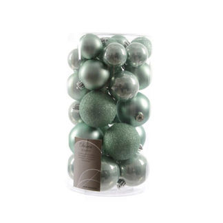 Box 30 Palline di Natale Eucalyptus