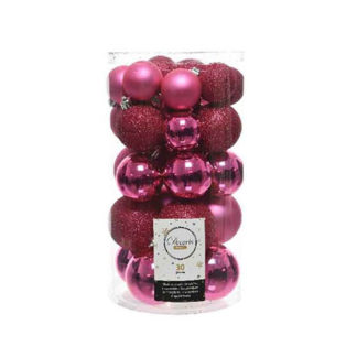 Box 30 Palline di Natale Flashing pink