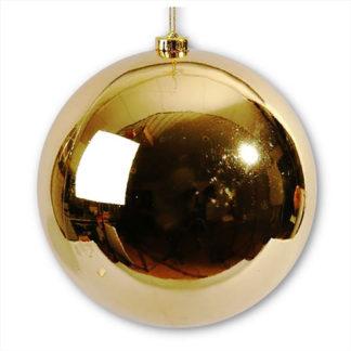Palla di Natale maxi oro mm 250