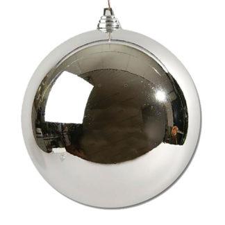Palla di Natale maxi argento mm 250