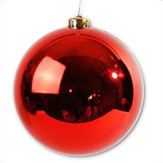 Palla di Natale maxi rossa mm 250