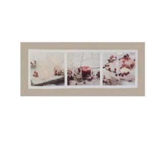 Quadro in tela con led cm 70 con decori rossi