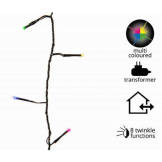 Miniluci 120 led multicolor con cavo mt 9