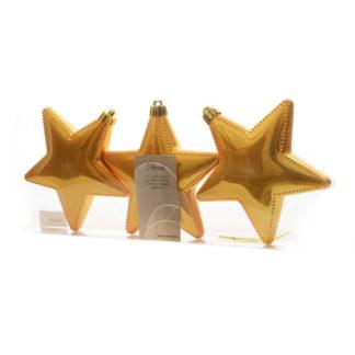 Stelle lucide giallo ocra set 3 pezzi cm 12