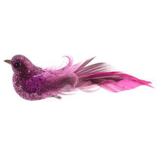 Uccellino lampone con clip cm 15