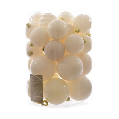 Box 30 palline bianco lana