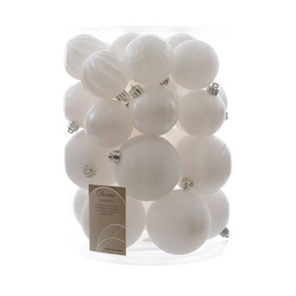 Box 30 palline bianco ghiaccio