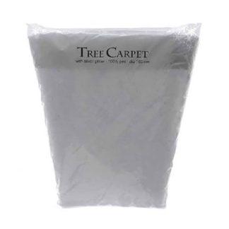Copri Base bianco per albero con glitter argento