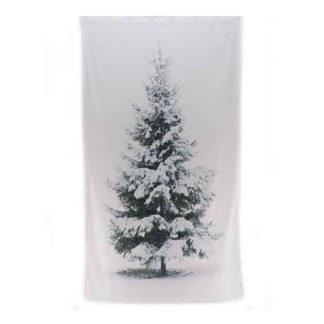 Tenda con stampa albero innevato cm. 240 x 140
